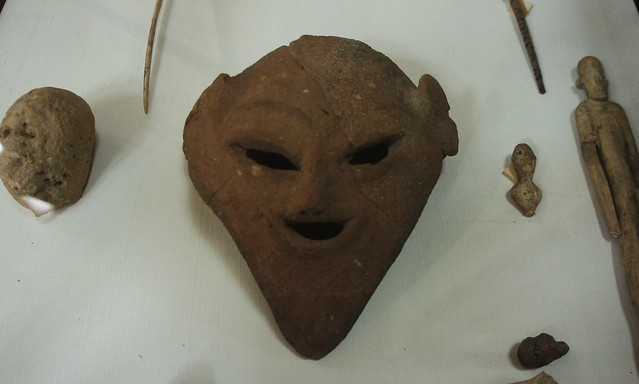 A clay head from Pre-dynastic Egypt at the Egyptian Museum of Cairo
