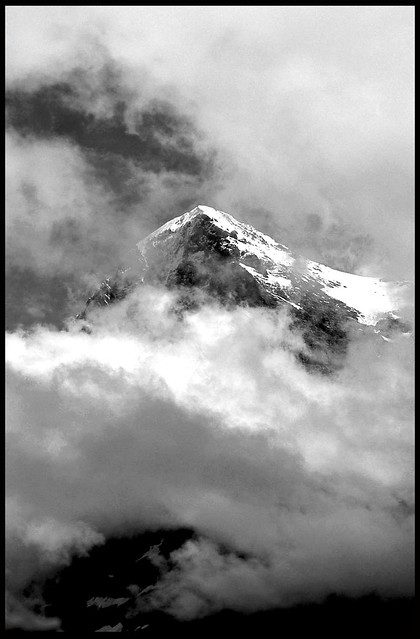 CLOUDS SURROUNDING THE EIGER NORHTFACE