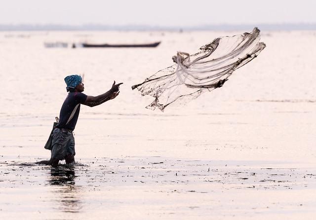 Throw fishing, Sri Lanka