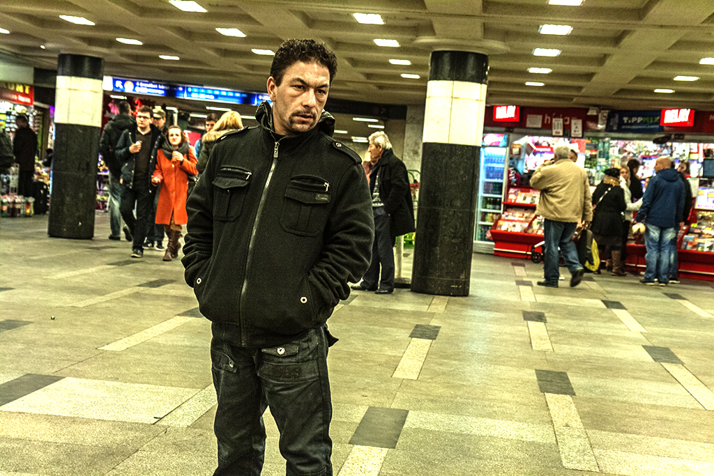 Blaha Lujza station concourse--Budapest