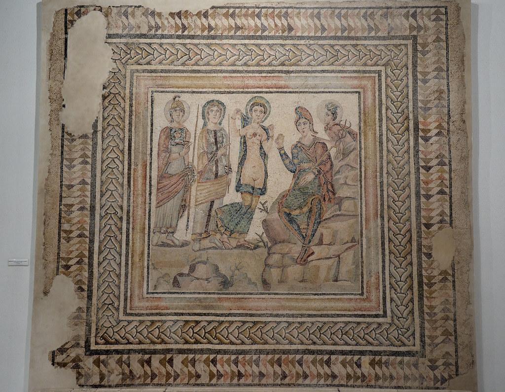 Mosaico El Juicio de París, en Casariche
