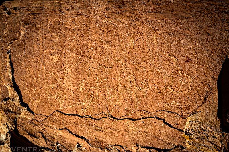River Petroglyph Panel