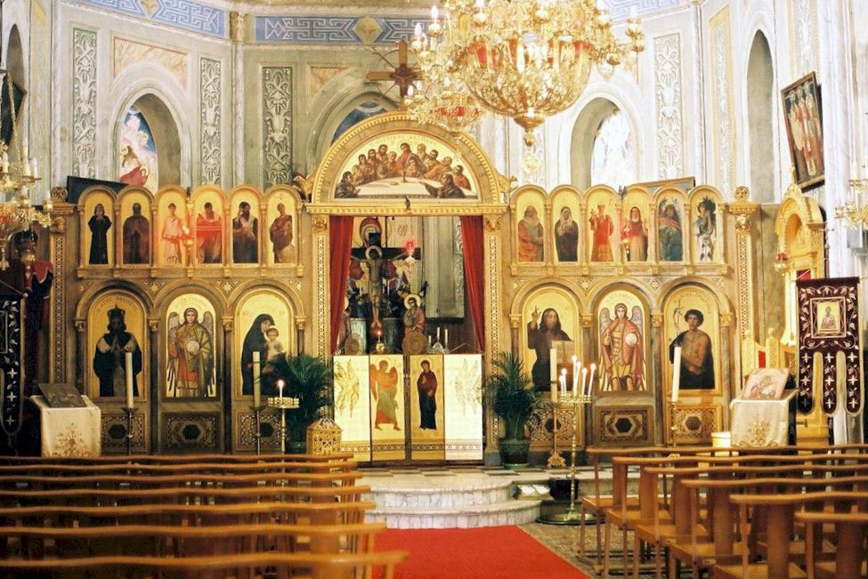Interieur of the Greek Orthodox Church Carghjese
