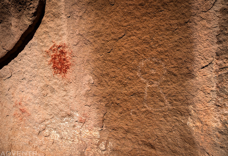 Red Splotch & Faded Petroglyph