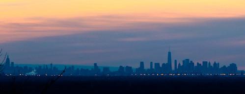 manhattan newjersey newyorkcity washingtonrockstatepark sunrise scotchplains nj park dawn greenbrook silhouettes newyork skylines somersetcounty