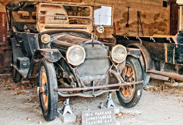 1914 packard, 7-passenger touring car, Death Valley NP Scotty's Castle in CA