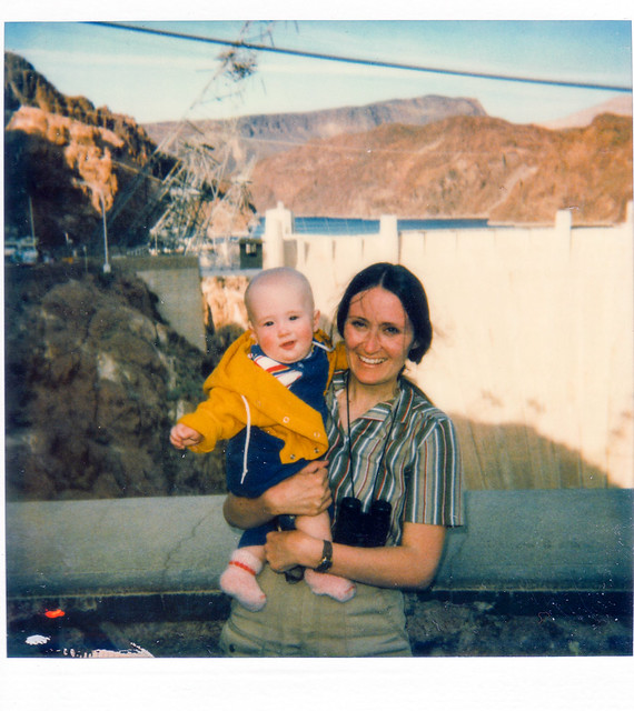 April 2, 1982, Joey and me at Hoover Dam
