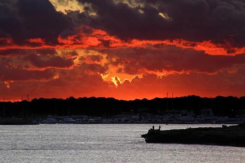 canon mallorca sestanyol clouds coast coastline costa mar nubes puestadesol red rojo sea sunset eos6d rapita sarapita canoneos