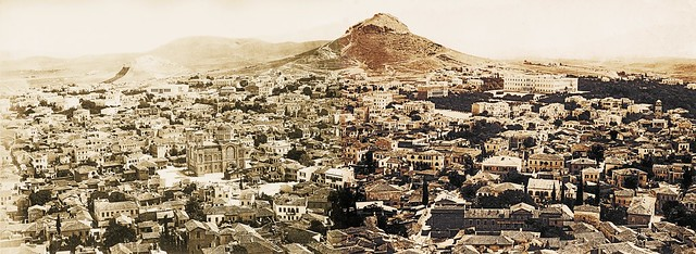 Bonfils panorama of Athens, 1868