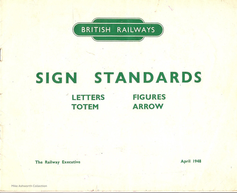British Railways Standard Signs Manual - 1948