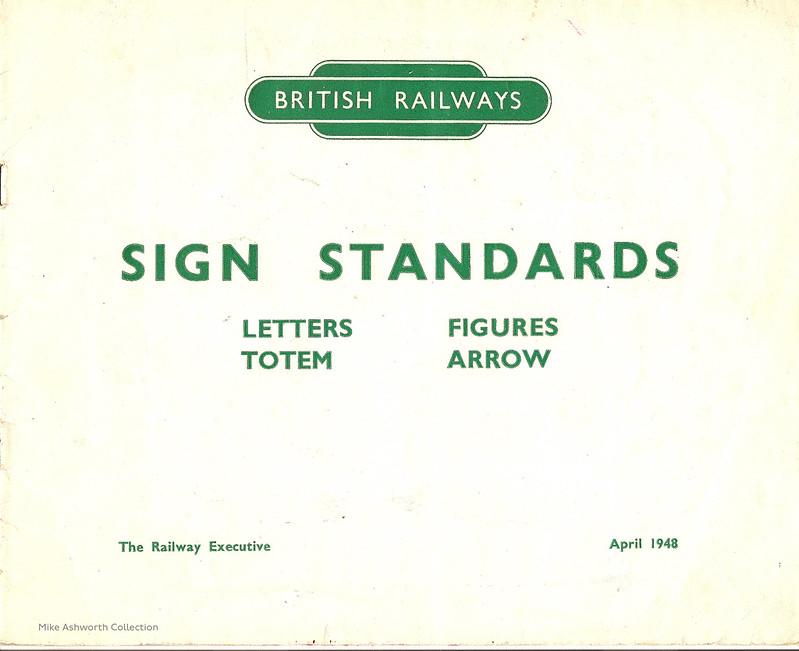 British Railways Standard Signs Manual - 1948