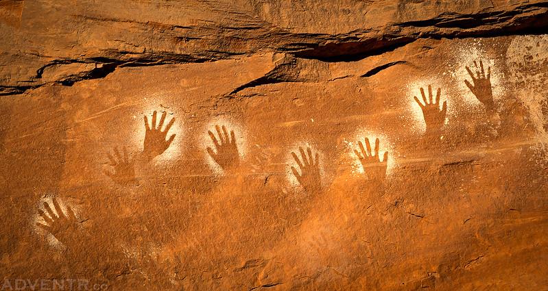 Reverse Handprints