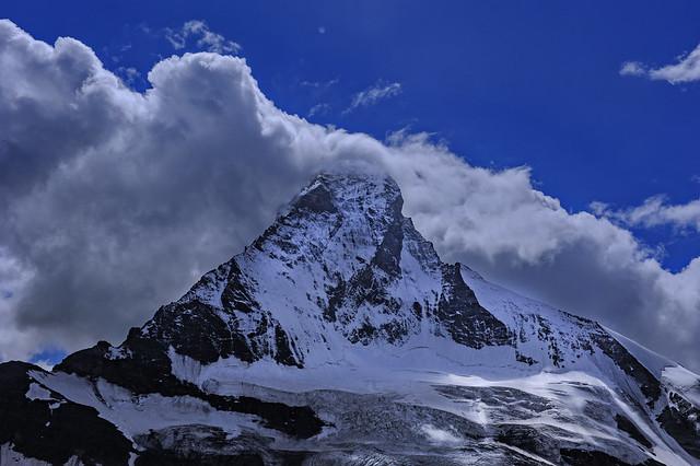 The Matterhorn under  a storm. No. 2572.