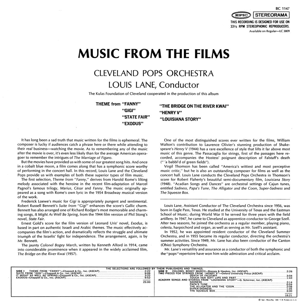 Louis Lane - Music from the Films