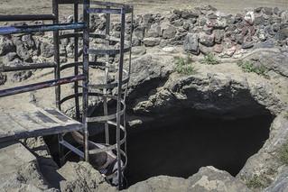 Ladder into lava