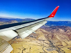 Window Seat. Shortly landing on Santiago Airport SCL.