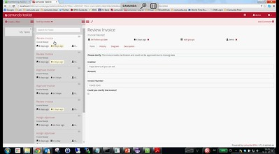 Camunda Tasklist - 3-panel UI