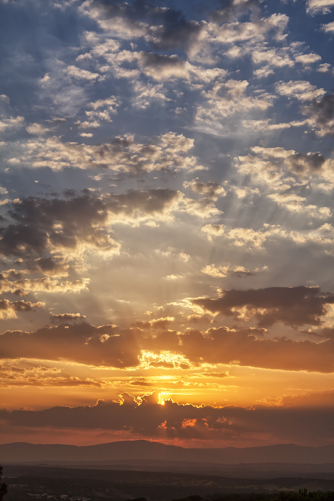 Sol al colchón de las nubes
