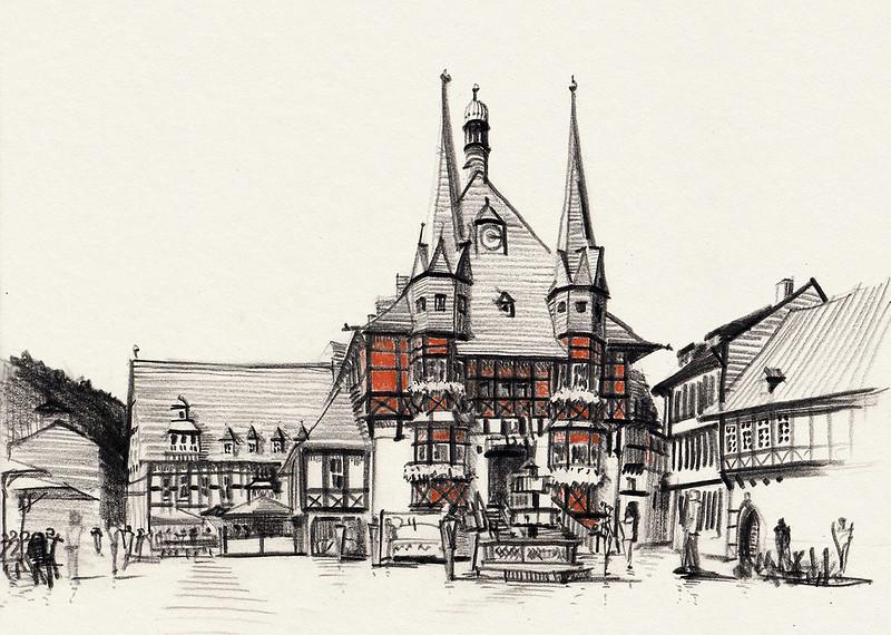 Rathaus Wernigerode. Wernigerode town hall