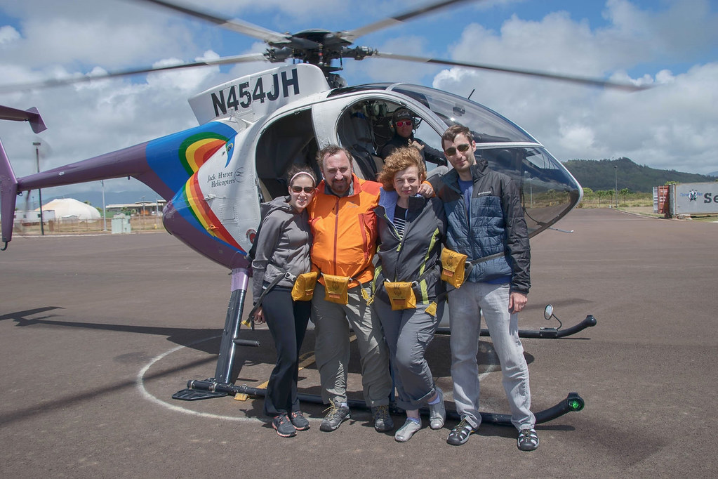 My wife, my son, my daughter-in-law, myself after a helicopter tour