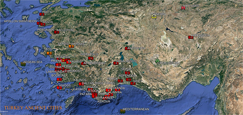 MAP : Turkey Ancient Cities Photo Albums.