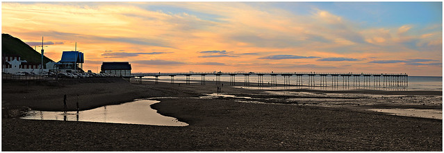 Late Evening Sunset - Saltburn Pier, North Yorkshire, England.