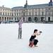 Summer tourists in Paris 2016