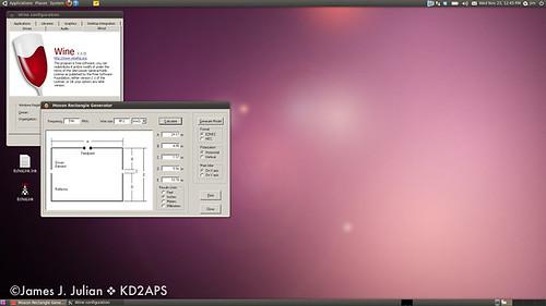 Amateur Radio Linux Screenshots Moxon Rectangle Generator