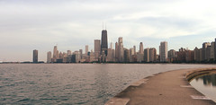 View of Chicago Skyline from North Avenue Beach, Chicago, Illinois