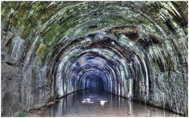 Abandoned railroad tunnel along Armstrong Rails to Trails
