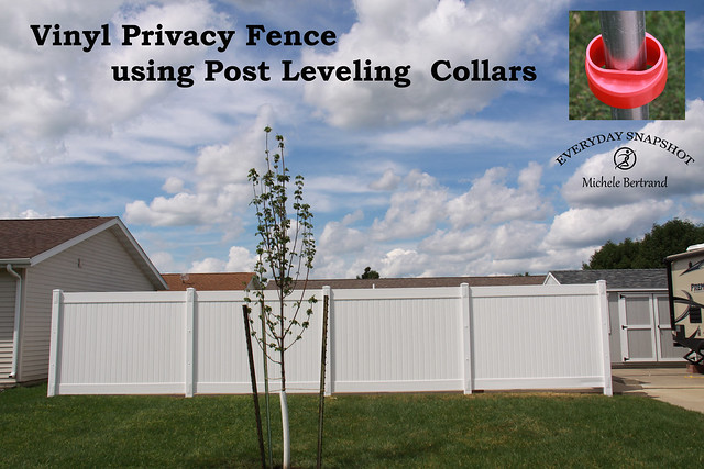 Vinyl Fence with Post Leveling Collar