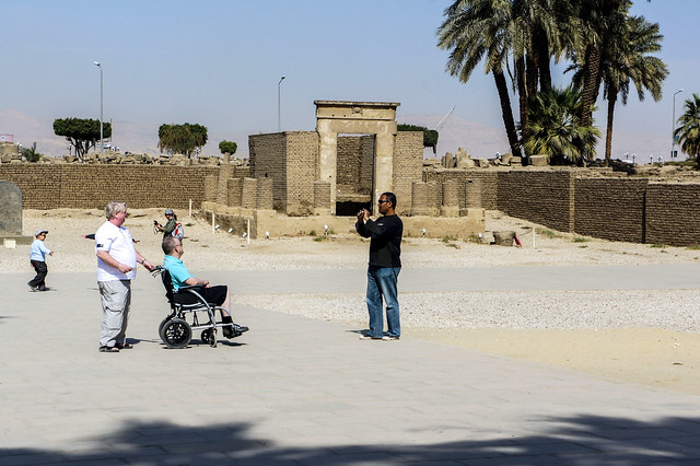 Tourists at Egypt's Luxor Temple