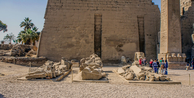 Remains of statues at Egypt's Luxor temple