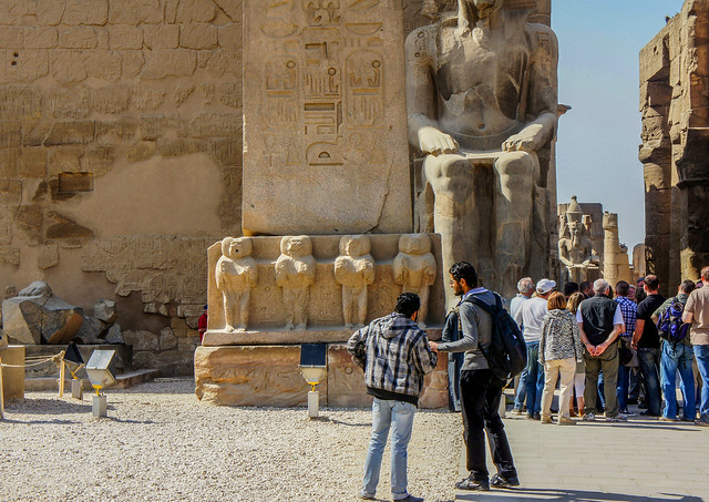 Baboons of the obelisk at Egypt's Luxor temple