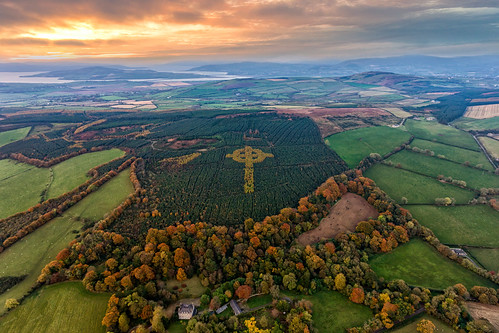 ireland historic history natural gareth wray photography strabane nikon summer landscape landmark tourist tourism scenic visit sight irish county donegal atlantic sea farm view wild way sunset field dji phantom 4 drone quadcopter aerial pine tree liam emery celtic forest cross forestry