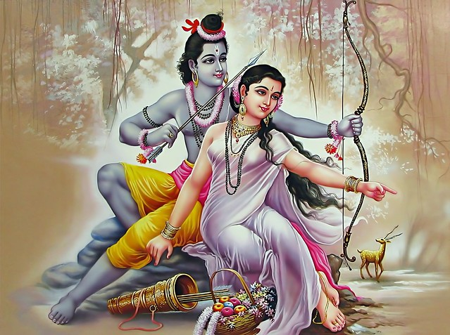 Sita requests Lord Rama to fetch the Golden Deer
