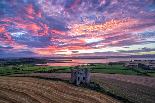 burt castle fort lough swilly foyle ancient irish kings hill lookout ring county donegal ireland summer landmark stone brick monument tourist tourists site famous visit scenic countryside druid celtic gareth wray photography strabane hdfox hd fox inishowen derry londonderry an angrainan sun inch island historic aerial drone dji phantom 3 quadcopter heather national gaelic photographer garethwrayphotography vacation holiday europe fahan buncrana people kingdom outdoor architecture landscape doherty clan