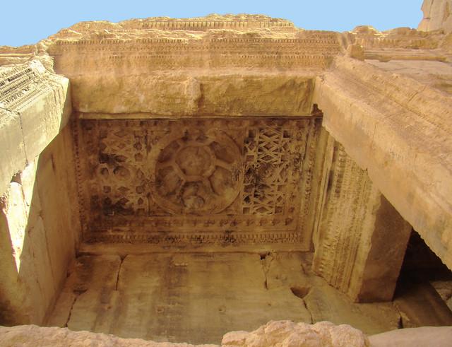 Cella camara nicho norte interior  techo con relieves de dioses zodiaco interior Templo Bel o Baal Palmira Siria 19