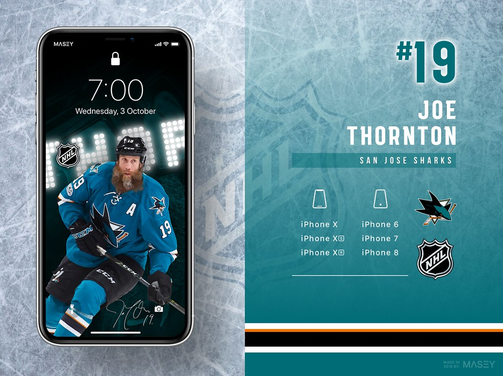 Joe Thornton (San Jose Sharks) iPhone Wallpaper