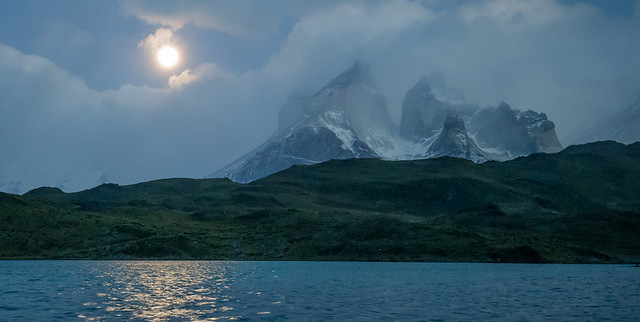 Torres del Paine by Moon Light