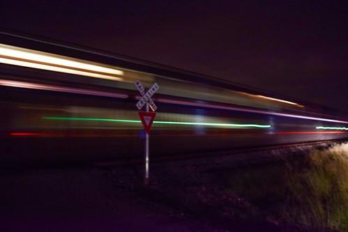 amtrak night motionblur superliners sunsetlimited