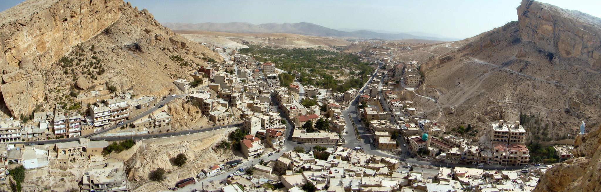 vista panoramica Maalula Siria