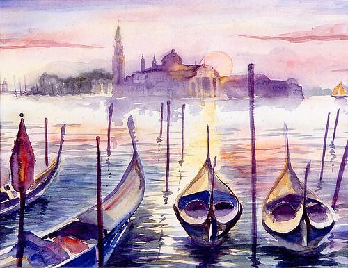 Venice_with Gondolas
