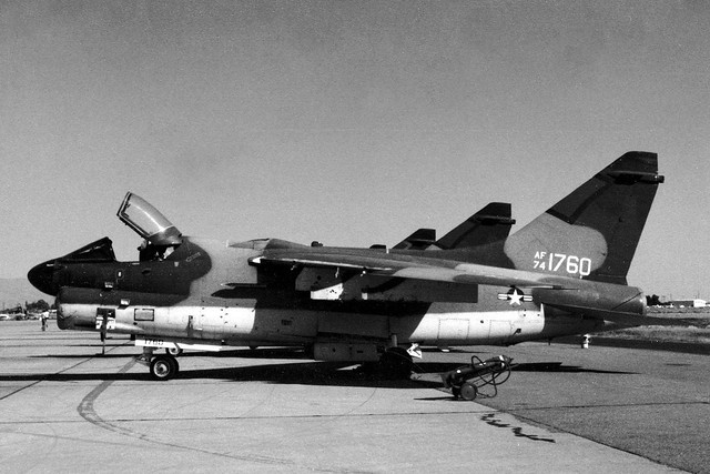 1974 LTV A-7D Corsair II 74-1760 c/n D435 US Air Force Tucson 15Oct78 c