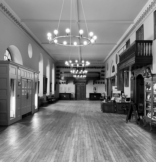 The entrance hall in Worcester Guildhall