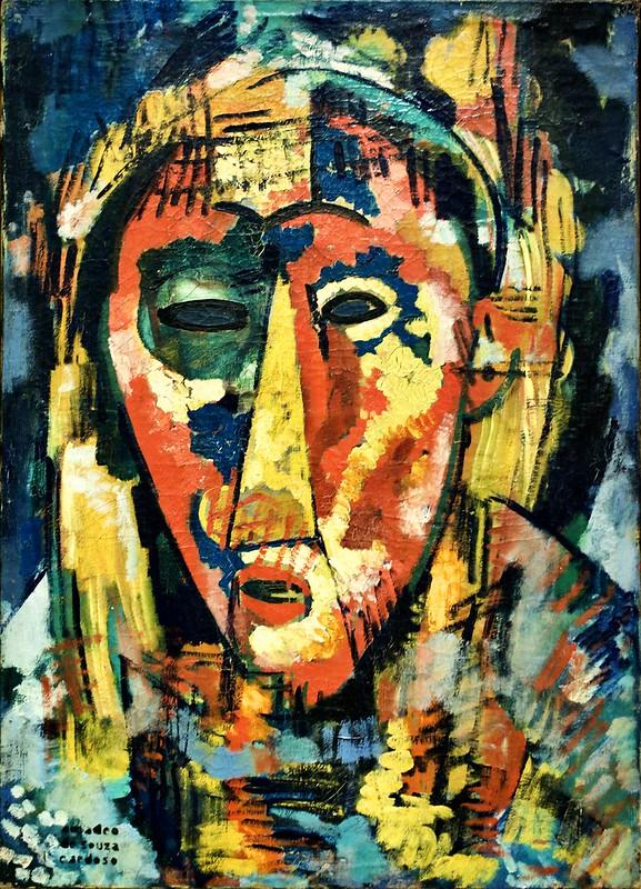 The green eye mask, head (1914-1915) - Amadeo de Souza-Cardoso (1897-2018)