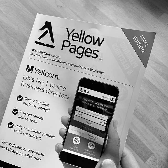 The final edition of the Yellow Pages
