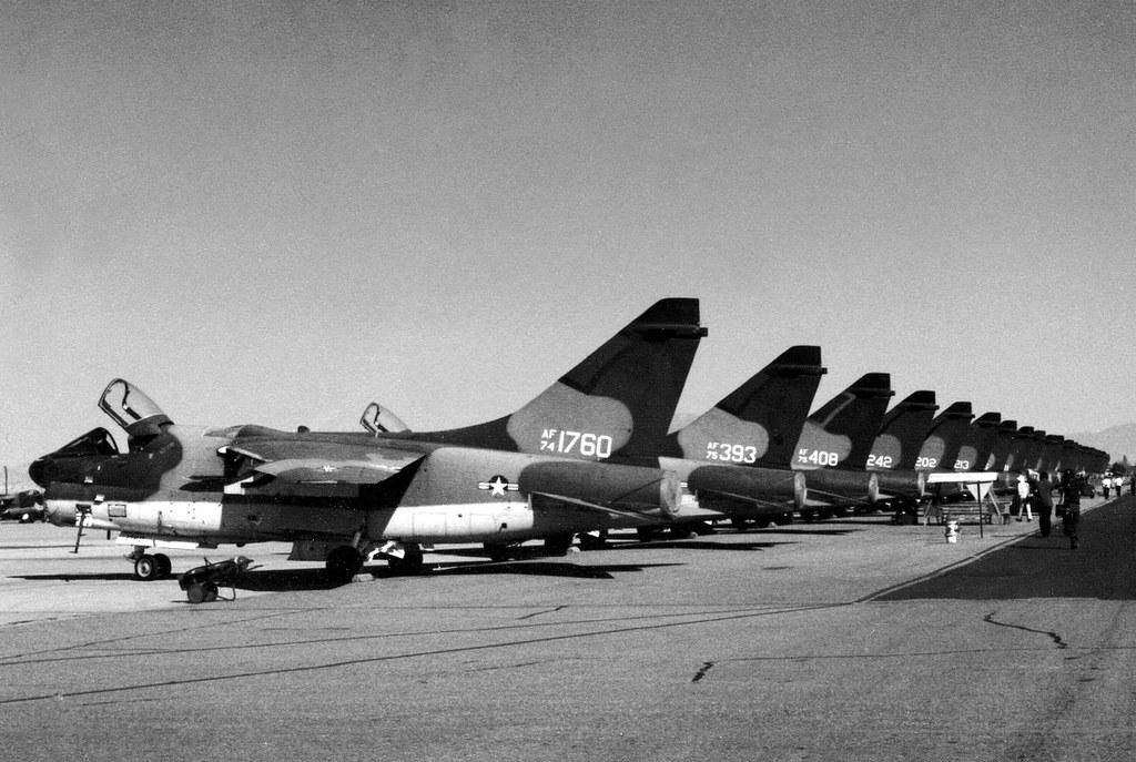 1974 LTV A-7D Corsair II 74-1760 c/n D435 US Air Force Tucson 15Oct78 b