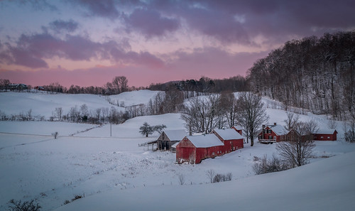 barn newengland backroads farm sunrise winter vermont jclay