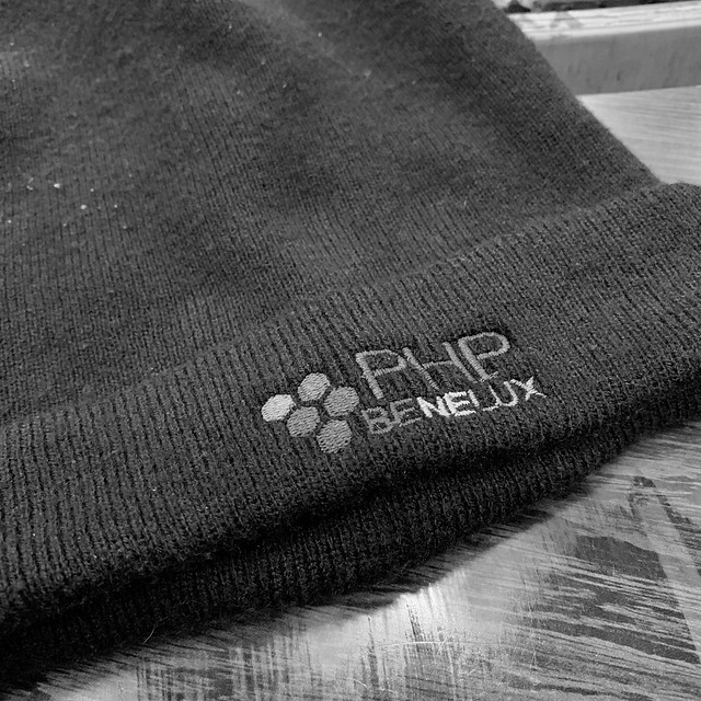 PHPBenelux beanie is needed for the cold!